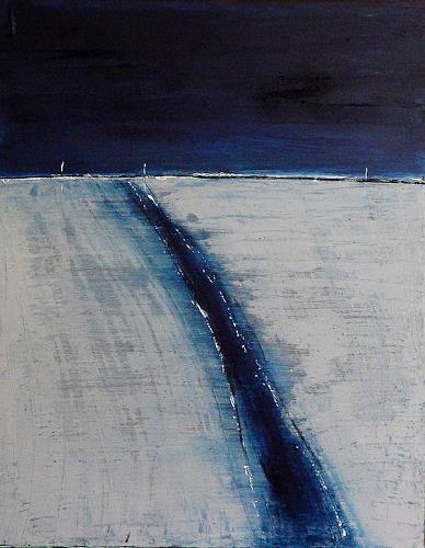 Conny Wachsmann, Ebbe und Flut - grau blau, Landscapes: Sea/Ocean, Landscapes: Beaches, Abstract Art, Expressionism