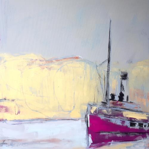 Conny Wachsmann, Sonnenseite, Landscapes: Sea/Ocean, The world of work, Action Painting, Expressionism