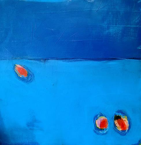 Conny Wachsmann, blaue Bilder, Abstract art, Art Déco, Abstract Expressionism