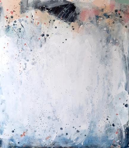 Conny Wachsmann, Frühlingsgefühle - weisses Bild, Abstract art, Art Déco
