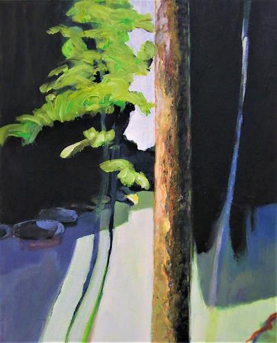 Jürgen Büse Filzen, Waldlicht, Landscapes, Nature: Wood, Expressionism
