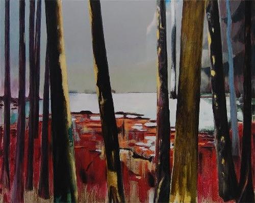 Jürgen Büse Filzen, Der Biberjäger, Nature: Wood, Nature: Water, Contemporary Art, Expressionism