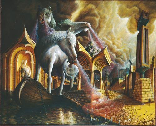 . Angerer der Ältere, Trojanisches Pferd, History, Mythology, Mannerism, Abstract Expressionism
