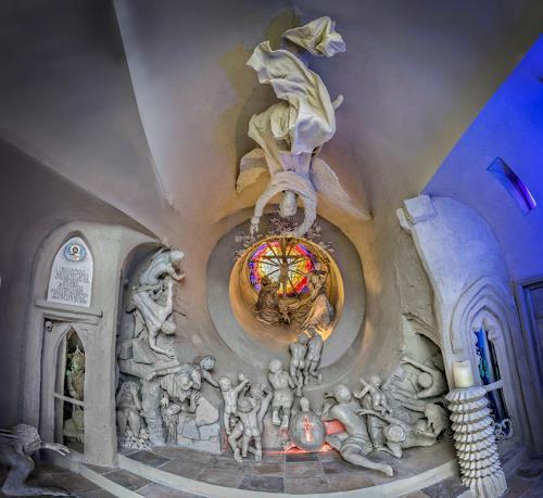 . Angerer der Ältere, Erlöserkapelle - Panorama innen (Foto E.Hillisch), Religion, Belief, Contemporary Art