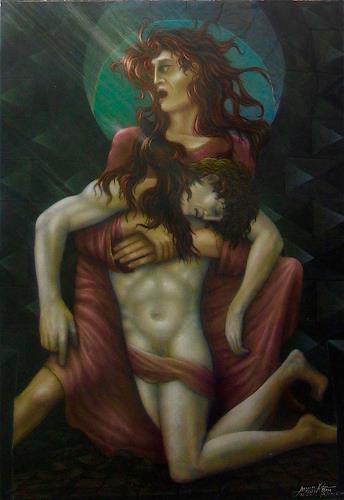 . Angerer der Ältere, Pieta 2017, People: Couples, Religion, Contemporary Art