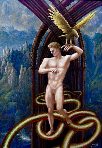 . Angerer der Ältere, Das ist der Herr der Erde (nach Novalis), Fantasy, Mythology, Contemporary Art