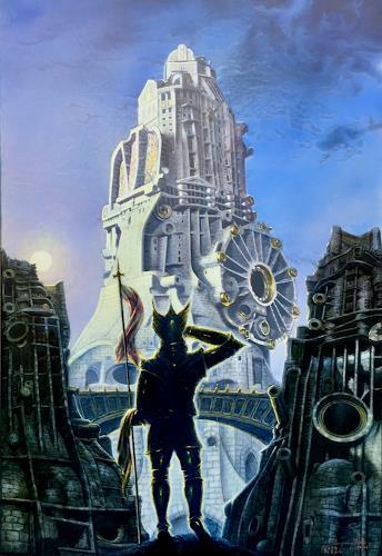 . Angerer der Ältere, In fernem Land, Architecture, Fantasy, New Figurative Art