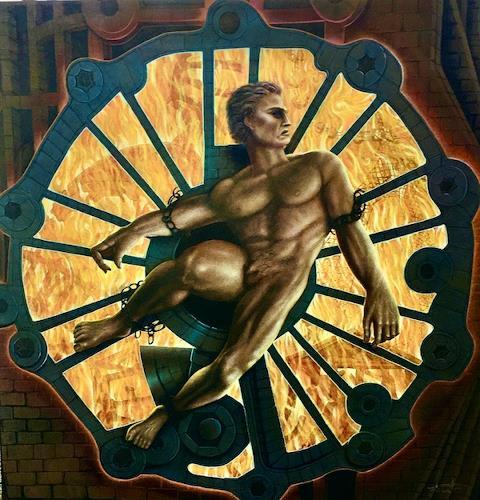 . Angerer der Ältere, Der gefesselte Prometheus, Mythology, People: Men, Contemporary Art