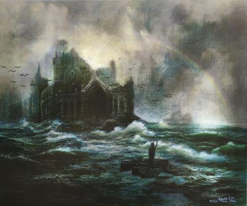 . Angerer der Ältere, Auf verlorenem Posten, Landscapes, Fantasy, Contemporary Art, Abstract Expressionism