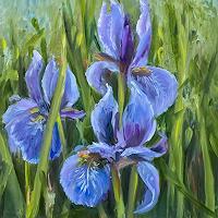 Sabine-Schramm-Plants-Flowers-Modern-Age-Expressive-Realism