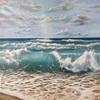 Sabine Schramm, Meer mit Welle, Landscapes: Sea/Ocean, Contemporary Art
