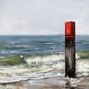 Sabine Schramm, Strandpaal auf Texel, Landscapes: Sea/Ocean, Contemporary Art