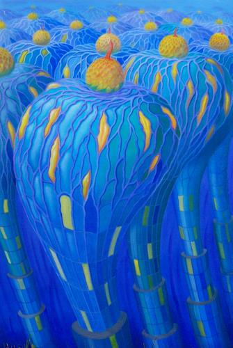 Peter Hutter, Gn Blauelb i, Fantasy, Architecture, Symbolism, Abstract Expressionism