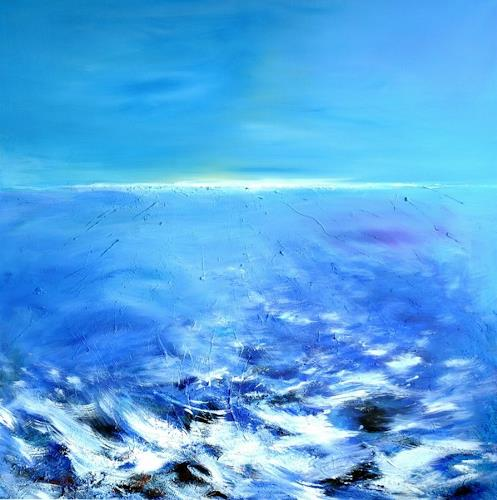 Franz Plahs, N/T, Landscapes: Sea/Ocean, Nature: Water, Abstract Art, Expressionism