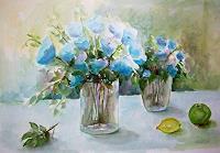 Gilberte-Vermeulen-Plants-Flowers-Still-life-Modern-Age-Impressionism