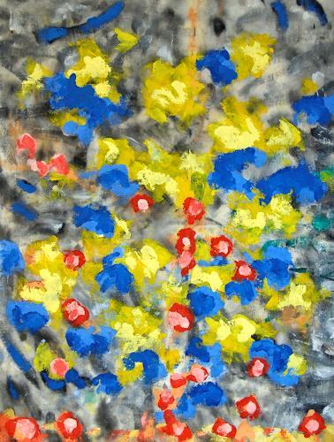 Jens Jacobfeuerborn, Blumen in grau, Abstract art, Plants: Flowers, Abstract Art