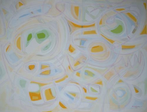 Jens Jacobfeuerborn, Frühling im Nebel, Abstract art, Fantasy, Abstract Art