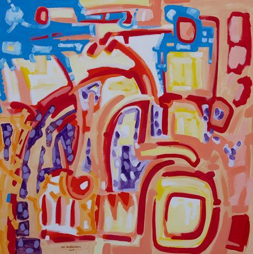 Jens Jacobfeuerborn, kleine blaue Wolke, Abstract art, Fantasy, Abstract Art