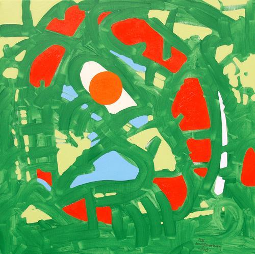 Jens Jacobfeuerborn, die grüne Reise, Abstract art, Fantasy, Abstract Art
