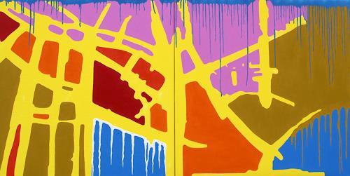 Jens Jacobfeuerborn, Die Arche ( 2- teilig ), Abstract art, Fantasy, Pop-Art
