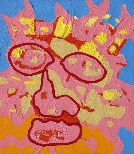 Jens Jacobfeuerborn, die Dornenkrone, Abstract art, People: Faces, Pop-Art