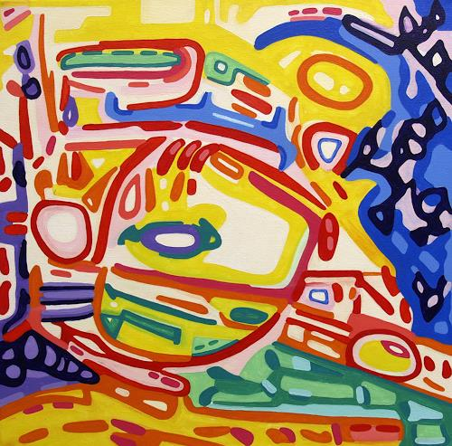 Jens Jacobfeuerborn, Im Vorbeifahren, Abstract art, Traffic: Car, Abstract Art