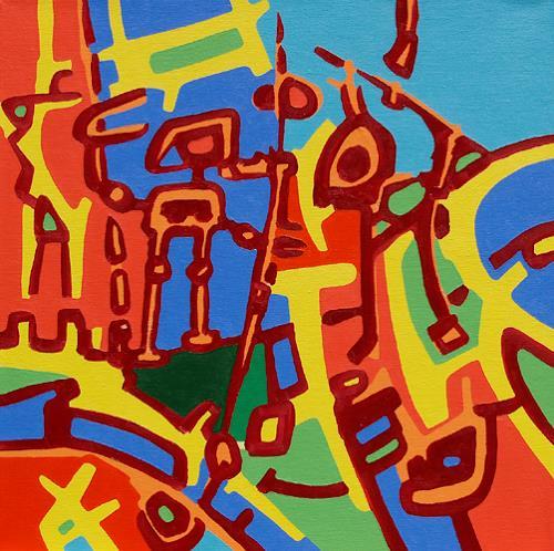 Jens Jacobfeuerborn, Kämpferin gegen das Böse einer anderen Welt, Fantasy, Abstract art, Modern Age