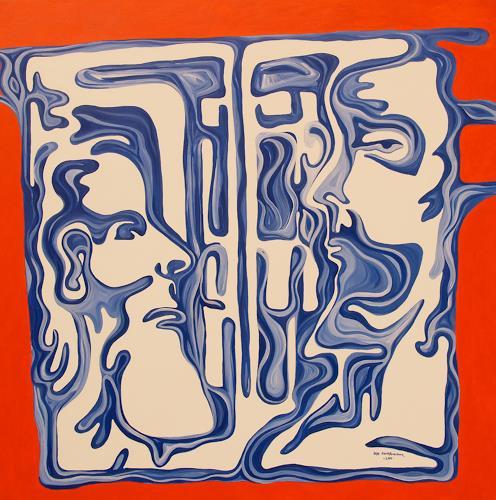 Jens Jacobfeuerborn, Selbstbildnis mit Spiegelbild des anderen ich´s, People: Faces, People: Men, Contemporary Art