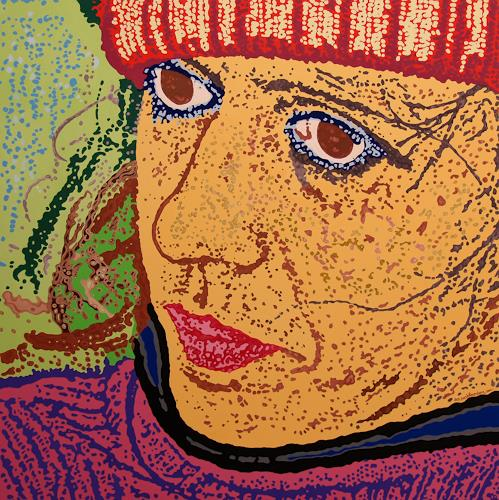 Jens Jacobfeuerborn, Maria, People: Faces, People: Women, Contemporary Art, Abstract Expressionism