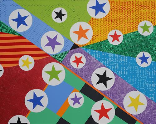 Jens Jacobfeuerborn, all the stars 3, Abstract art, Pop-Art