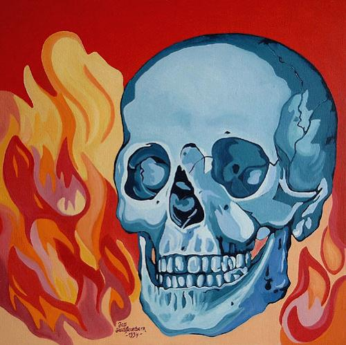 Jens Jacobfeuerborn, Totenkopf, Nature: Fire, Death/Illness, Contemporary Art