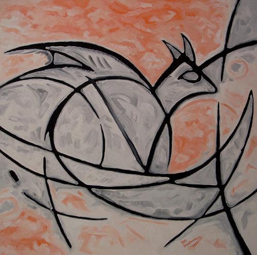 Jens Jacobfeuerborn, atomic rooster Ziege,oder (der Geist von Venedig), Abstract art, Fantasy, Contemporary Art