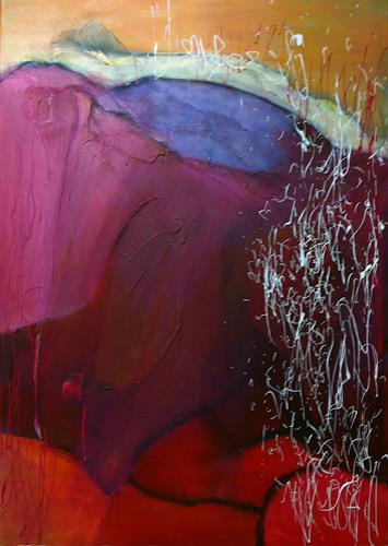 Ilona Felizitas Hetmann, Rot III, Abstract art, Emotions: Joy, Expressionism