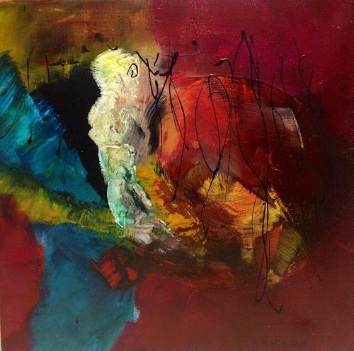 Ilona Felizitas Hetmann, Begegnung 1, Abstract art, Decorative Art