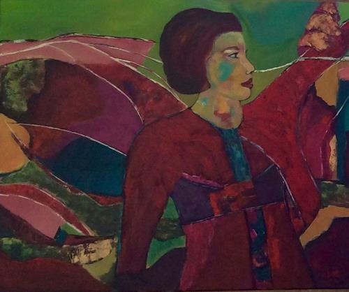 Ilona Felizitas Hetmann, N/T, People: Women, Abstract Art, Expressionism