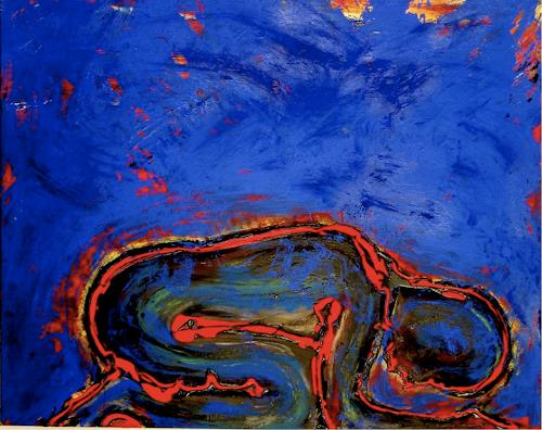 Katrin Klug, Die Ruhe, Emotions: Safety, People: Women, Abstract Expressionism