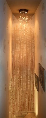 MarianaS, Treppenaufgang in einer Wohnung bei Zürich, Plants: Trees, Miscellaneous Landscapes, Kunst am Bau