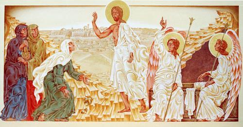 MarianaS, Die Auferstehung, Religion, Mythology, Kunst am Bau, Expressionism