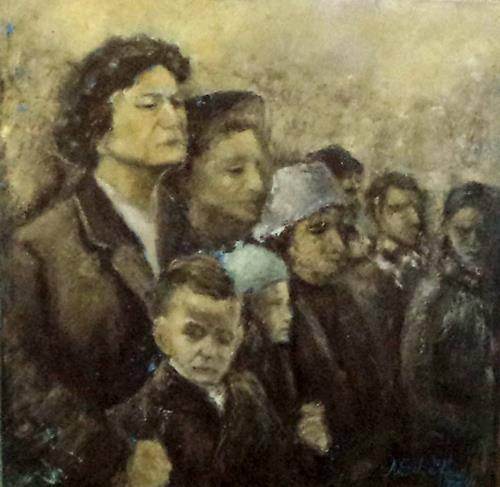Margareta Schaeffer, ABSCHIED, People: Group, People: Faces, Impressionism, Abstract Expressionism