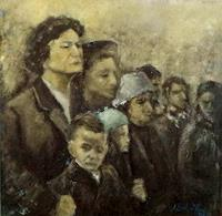 Margareta-Schaeffer-People-Group-People-Faces-Modern-Age-Impressionism