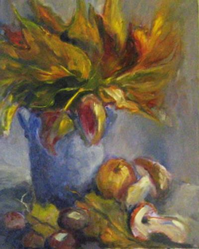 Margareta Schaeffer, HERBST, Still life, Plants, Impressionism, Expressionism