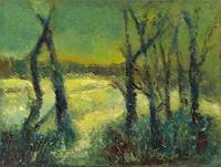 Margareta-Schaeffer-Landscapes-Landscapes-Winter-Modern-Age-Impressionism