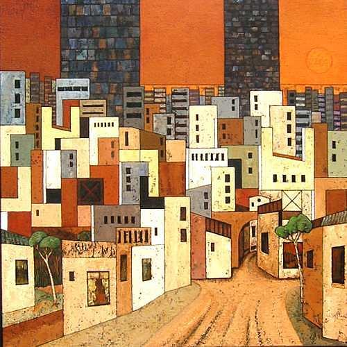 Jonny Lüpkes, Metropolis VI, Architecture, Landscapes: Plains, Contemporary Art