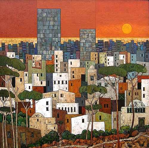 Jonny Lüpkes, Orientalische Stadt, Landscapes: Plains, Architecture, Contemporary Art