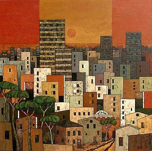 Jonny Lüpkes, Urban, Architecture, Landscapes: Mountains, Contemporary Art, Expressionism