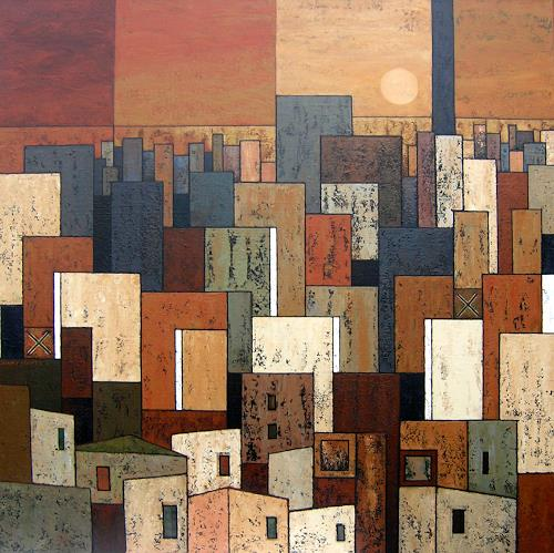 Jonny Lüpkes, City, Landscapes, Architecture, Contemporary Art