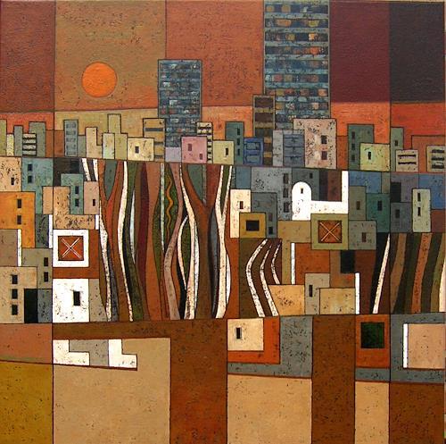 Jonny Lüpkes, Stadtlandschaft, Landscapes, Architecture, Contemporary Art