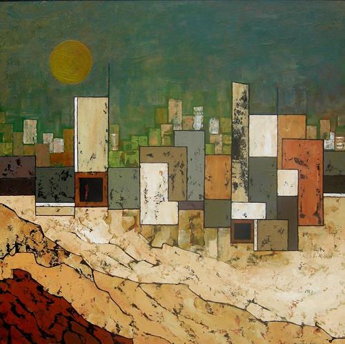 Jonny Lüpkes, Vor dem Sandsturm, Landscapes, Landscapes: Plains, Contemporary Art