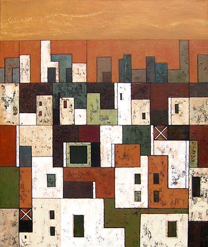 Jonny Lüpkes, N/T, Landscapes: Plains, Architecture, Contemporary Art, Expressionism