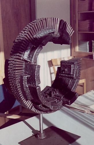 Jonny Lüpkes, Eisenplastik, Abstract art, Technology, Modern Age